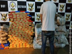 DOF apreende 425 quilos de maconha e 10 quilos de skank em perseguição tática onde um dos veículos foi pego em Maracaju