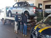 PRF prende quarteto e recupera duas caminhonetes roubadas na divisa entre PR e MS
