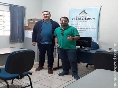 Maracaju: Casa do Trabalhador na busca de parcerias com o comércio local recebe a visita de Lucas Calderan