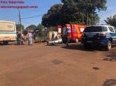 Maracaju: Colisão entre motocicleta e ônibus na Vila Juquita