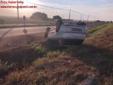 Maracaju: Condutor perde controle de direção e capota veículo