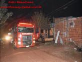 Maracaju: Corpo de Bombeiros atendem ocorrência de incêndio criminoso em residência
