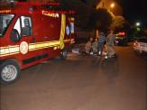 Maracaju: Grave acidente de colisão frontal entre e veículo e motocicleta