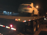 Veículo carregado com pneus contrabandeados capota e é apreendido pelo DOF em Maracaju