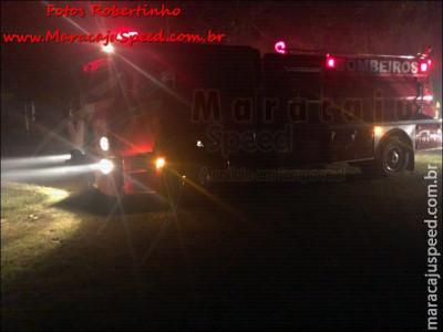 Maracaju: Corpo de Bombeiros atendem ocorrência de incêndio em aviário