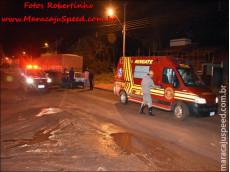 Maracaju: Homem teria tentado suicídio, jogando seu veículo contra traseira de carreta estacionada na Rua Zebulândia. Vítima foi presa pois havia mandado de prisão emitido pela Comarca da Capital