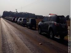 Operação conjunta da PMRv e DOF remove veículos suspeitos de servirem aos crimes de contrabando/descaminho na fronteira