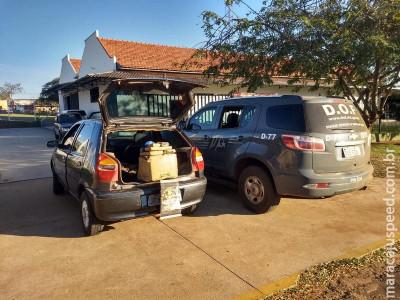 Veículo carregado com 36,7 quilos de maconha foi apreendido pelo DOF