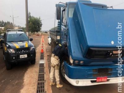 Caminhão com registro de furto é recuperado pela PRF em Dourados