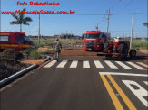 Maracaju: Bombeiros atendem ocorrência onde abelhas atacam operador de trator