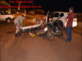 Maracaju: Colisão entre veículo e motocicleta no cruzamento da Av. Marechal Deodoro com a Rua Quintino Bocaiuva