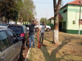Maracaju: Pátio da E. E. Padre Constatino de Monte recebe sinalização de trânsito através de parceira com GEMUTRAN