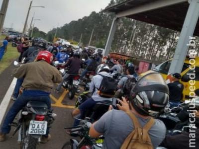 'Perdeu a motinha': PRF aborda motociclistas na BR-163 e apreende 20 veículos