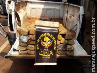 Polícia apreende veículo que transportava 39 tabletes de maconha