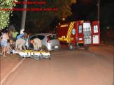 Maracaju: Condutor aparentemente embriagado colidi com poste de rede elétrica na Rua Campo Grande