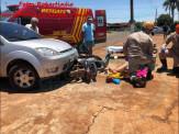 Ex-prefeito de Maracaju realiza manobra de conversão ao meio da via e colidi frontalmente com motociclista