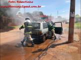 Maracaju: Bombeiros atendem ocorrência de incêndio em veículo na Vila Juquita