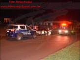 Maracaju: Corpo de Bombeiros atendem ocorrência de acidente. Condutor de caminhonete Hilux de cor Preta fugiu do local sem prestar socorro à vítima