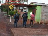 Maracaju: Homem que estava agredindo esposa e familiares, investe contra policiais militares armado de facão, e é baleado