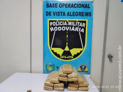 Operação Hórus/MS Maracaju: Polícia Militar Rodoviária localiza 15 kg de maconha em bagagem de mão de mulher que retornava da fronteira