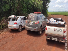 Maracaju: Dois homens são presos pelo DOF após tentarem fugir com veículos abarrotados com cigarros contrabandos