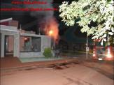 Maracaju: Corpo de Bombeiros atendem ocorrência de incêndio em rede elétrica de residência