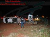 Maracaju: Capotamento na BR-267, defronte ao Terminal Rodoviário, deixa condutor em óbito e dois passageiros feridos