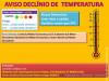 Aviso de Declínio de Temperatura - Nível Alaranjado
