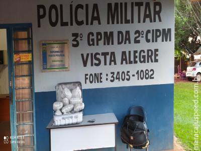 Maracaju: Grupamento da Polícia Militar Distrito Vista Alegre apreende adolescente com 10 quilos de Maconha
