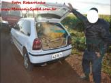 Maracaju: Veículo carregado com maconha não acata ordem de parar, empreende fuga pela MS-164, perde controle do veículo, colidi com poste e capota por várias vezes