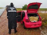 Maracaju: Veículo furtado em Brasília foi recuperado pelo DOF com mais de meia tonelada de maconha. Traficante é baleado durante fuga