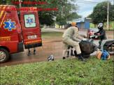 Maracaju: Condutor de veículo invade Av. preferencial, colhe motociclista e foge do local sem prestar socorro