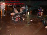 Maracaju: Homem tem perna esfacelada em acidente envolvendo motocicleta e veículo na região da biquinha