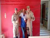Militares e Voluntários do Corpo de Bombeiros de Maracaju se solidarizam com companheiro que está lutando contra câncer linfático, e demonstram união e companheirismo em bela homenagem
