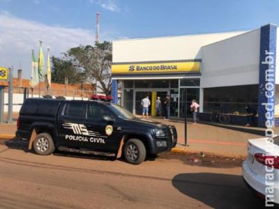 Bandidos armados invadem agência do Banco do Brasil de Nova Alvorada do Sul
