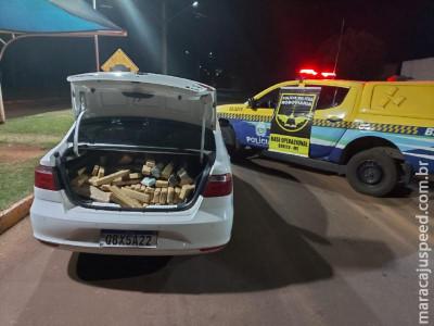 Maracaju: Polícia Militar Rodoviária apreende mais de 300 kg de drogas após veículo furar bloqueio policial