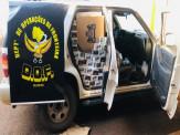 Maracaju: Veículo que seguia para Campo Grande com mais de dois mil pacotes de cigarros foi apreendido pelo DOF