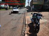 Maracaju: Acidente envolveu veículo e motociclista na Av. Perimetral Leste