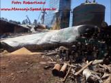 Maracaju: Bombeiros atendem ocorrência de desabamento de silo em zona rural