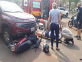 Maracaju: Colisão entre caminhonete Fiat Toro e Biz resulta em motociclista com fratura