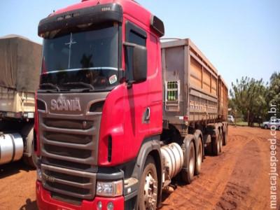 """Maracaju: Polícia Militar atende ocorrência de """"FURTO"""" de carga de milho de empresa multinacional, localizada as margens da Rodovia MS-460"""