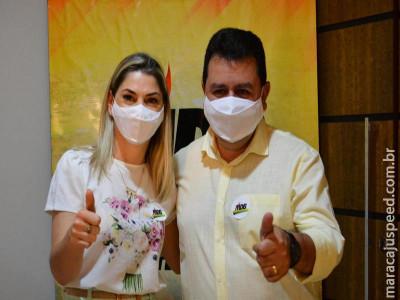 MDB Maracaju oficializa candidatura de Lenilso Carvalho à prefeitura e doutora Lidiane como vice-prefeita