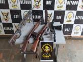 Armas de grosso calibre e de uso exclusivo das Forças Armadas foram apreendidas pelo DOF durante a Operação Hórus