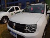 Maracaju: Adquirido com recursos próprios, Prefeito Maurílio Azambuja entrega mais duas caminhonetes para a Secretaria de Saúde