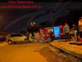 Maracaju: Bombeiros e Polícia Militar atendem ocorrência de colisão frontal de veículo e motocicleta