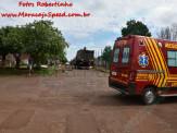 Maracaju: Caminhão enrosca em cabos de internet fibra ótica, e derruba poste da rede elétrica