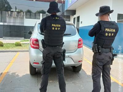 Maracaju: Veículo furtado em São Paulo foi recuperado pelo DOF durante a Operação Hórus