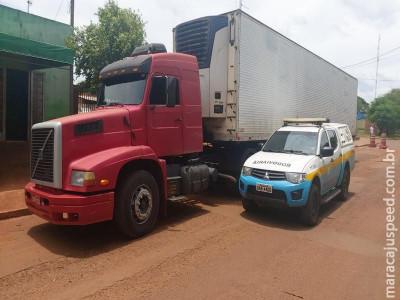 """Maracaju: PMRv localiza """"mocó"""" em carreta e apreende 1,5 tonelada de maconha"""