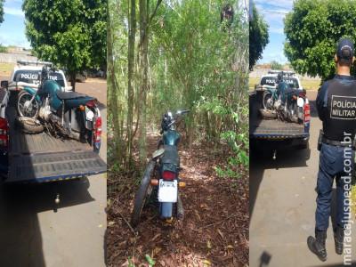 Maracaju: Polícia Militar recupera motocicleta furtada na cidade de Itaporã