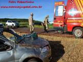 Maracaju: Bombeiros atendem ocorrência de capotamento na Rodovia MS-460 (Estrada da Água Fria), passageiro ficou em estado grave
